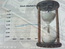 Marché boursier et temps Images stock