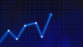 Marché boursier Graphique et diagramme marchands dans des affaires financières illustration libre de droits