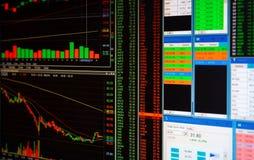 Marché boursier ou graphique et diagramme marchands de forex pour l'aileron de technologie image stock