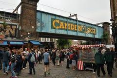 Marché célèbre en Camden Town images libres de droits