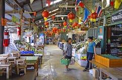 Marché centenaire de Khlong Suan près de Bangkok, Thaïlande Photos stock