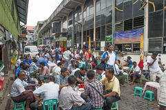 Marché central à Yangon myanmar Photos libres de droits