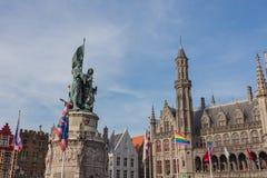 Marché central de Bruges, Belgique image stock