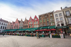 Marché central de Bruges, Belgique photo stock