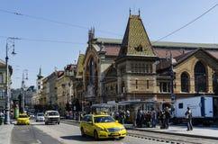 Marché central Hall à Budapest images libres de droits