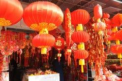 Marché chinois d'an neuf à Changhaï Photos libres de droits