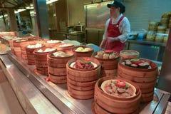 Marché chinois de nourriture à Changhaï Chine Photo stock