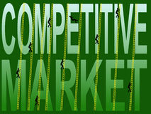 Marché compétitif illustration stock