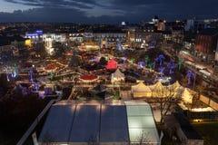 Marché continental de Noël de Galway Image stock
