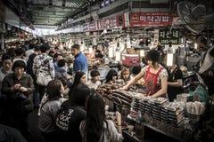 Marché coréen de nourriture de rue Photo stock