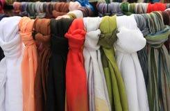 Marché d'écharpe Image stock