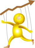 Marché d'action joyeux illustration libre de droits