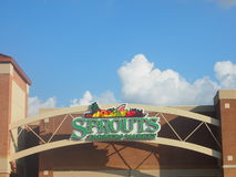 Marché d'agriculteurs de pousses dans Plano le Texas U S a Photographie stock