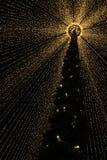 Marché d'arbre de Noël d'une autre perspective Image stock