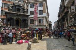 Marché d'Asan Tole, Katmandou, Népal Photos libres de droits