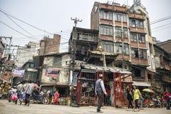 Marché d'Asan Tole, Katmandou, Népal Photos stock