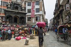Marché d'Asan Tole, Katmandou, Népal Photographie stock libre de droits