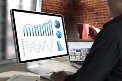 Marché d'augmentation de croissance de diagramme de données commerciales d'analyse de statistiques Photo libre de droits
