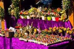 Marché d'oeufs de place d'AM Hof pendant des vacances de Pâques, Vienne Photos stock