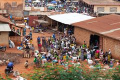 Marché dans Azove Bénin image libre de droits