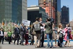 Marché dans la protestation Photo libre de droits
