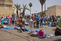 Marché dans Meknes Images stock