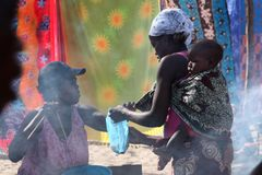 Marché dans Tofo, Mozambique Photographie stock