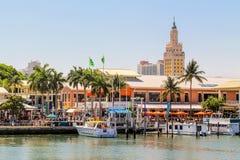 Marché de Bayside à Miami, la Floride photos libres de droits