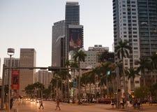 Marché de Bayside la nuit à Miami, la Floride images stock
