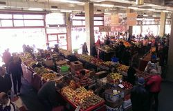 Marché de Bucur Obor Photo libre de droits