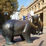 Marché de Bull ou d'ours ? Photo stock