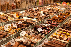Marché de chocolat Photos libres de droits