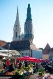 Marché de Dolac Image libre de droits
