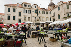 Marché de Dubrovnik (Croatie) Photo stock