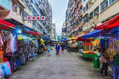 Marché de fa Yuen Street photos libres de droits