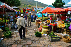 Marché de Farmer´s, Villa de Leyva, Colombie Photo stock