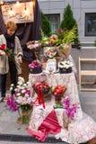 Marché de fleur de Kiev - la première fleur de ville juste à Kiev, Ukraine 18 septembre 2016 Photos stock