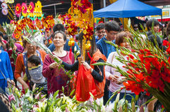 Marché de fleur de nouvelle année Photos libres de droits