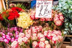 Marché de fleur de route de Colombie Photographie stock