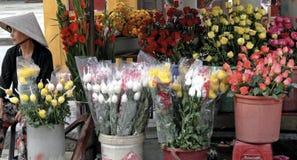 Marché de fleur du Vietnam Images libres de droits