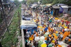 Marché de fleur, Kolkata, Inde Photos stock