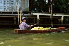 Marché de flottement à Bangkok Images libres de droits