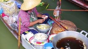 Marché de flottement, Bangkok, Thaïlande banque de vidéos
