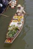 Marché de flottement célèbre de Damnoen Saduak - Bangkok, Thaïlande Images libres de droits