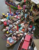 Marché de flottement d'Amphawa, Bangkok, Thaïlande Photos libres de droits