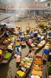 Marché de flottement d'Amphawa, Thaïlande photo libre de droits