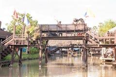Marché de flottement d'Ayothaya Photo libre de droits