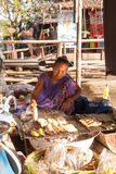Marché de flottement d'Ayothaya Image stock