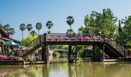 Marché de flottement d'Ayutthaya, Thaïlande Image libre de droits