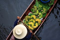 Marché de flottement de Bangkok Photographie stock